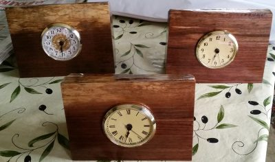 black walnut clocks